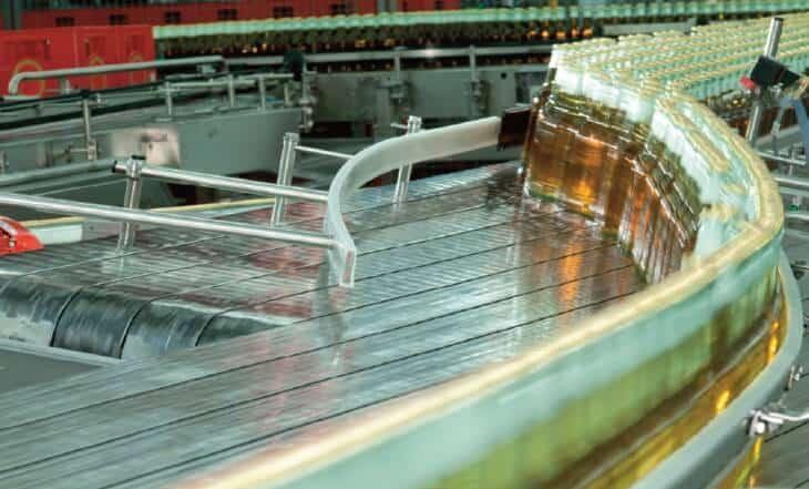 Конвейер на пивоваренном заводе
