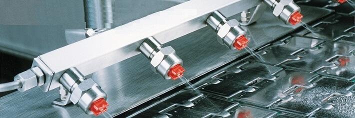 Форсунки Лехлер в системе мокрой смазки конвейерной ленты