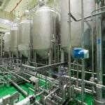 Емкостной парк завода по производству напитков