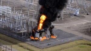 Пожар на трансформаторной подстанции
