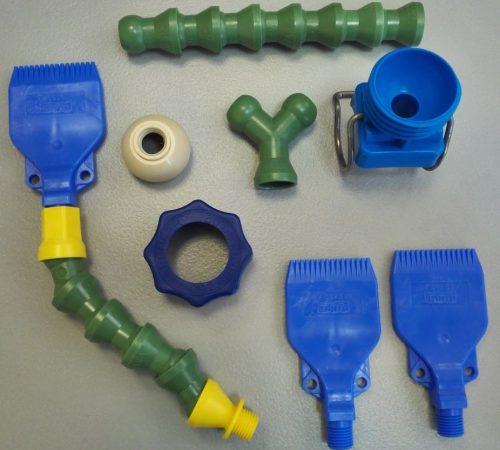 Варианты комплектации форсунок для сжатого воздуха гибкими шлангами
