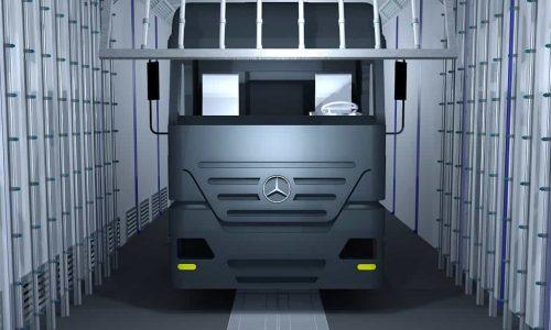 Дождевальная камера кабины грузовика