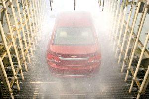 Камера дождя на заводе Chevrolet