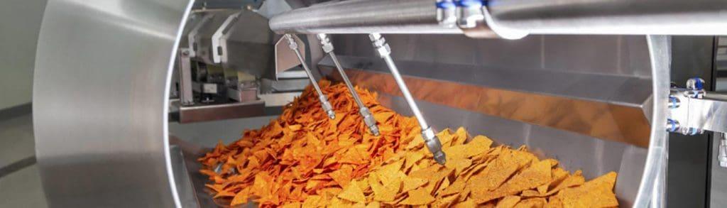Спрейбар с форсунками распыления раствора специй на начос