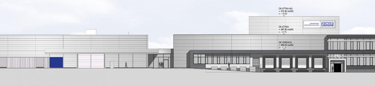 Новое здание логистического центра промышленных форсунок Лехлер