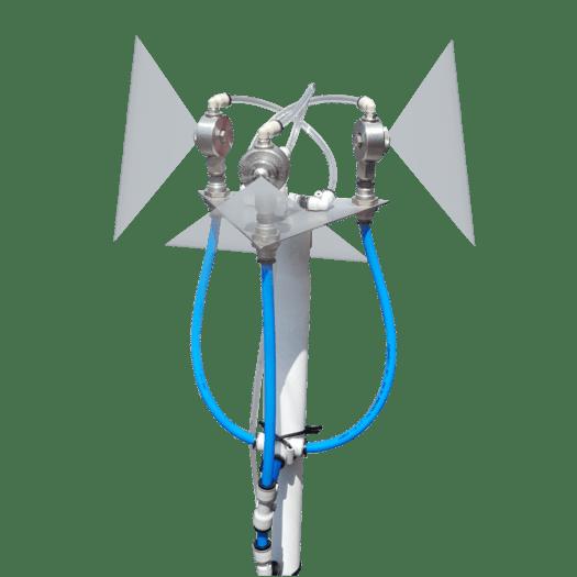 Система дезобработки помещений на основе пневматических форсунок Лехлер