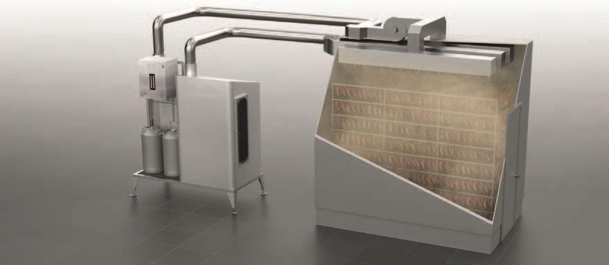 Термокамера с системой внесения жидкого дыма