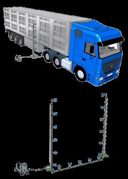 Рамка дезинфекции для автотранспорта