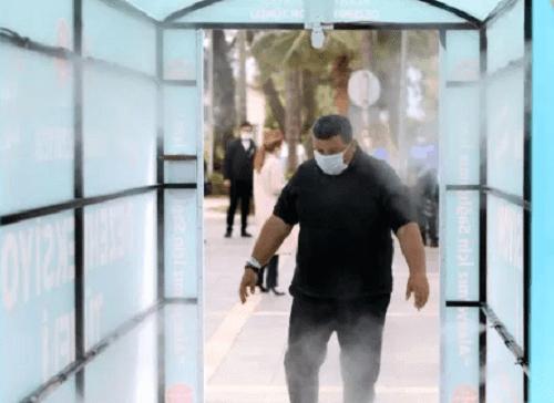 Туннель дезинфекции на улице