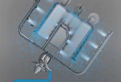 Контуры распыления с форсунками в машине мойки тележек для фарша