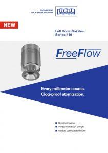 Флаер по аксиальной полноконусной форсунке 419 серии FreeFlow