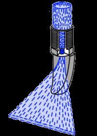 Аксиальная язычковая форсунка плоской струи