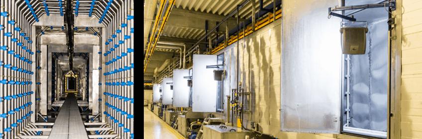 Оптимизация работы распылителей в туннеле подготовки поверхности
