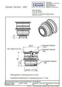 Чертеж резьбовой версии форсунки для мойки теневых зон 5P5