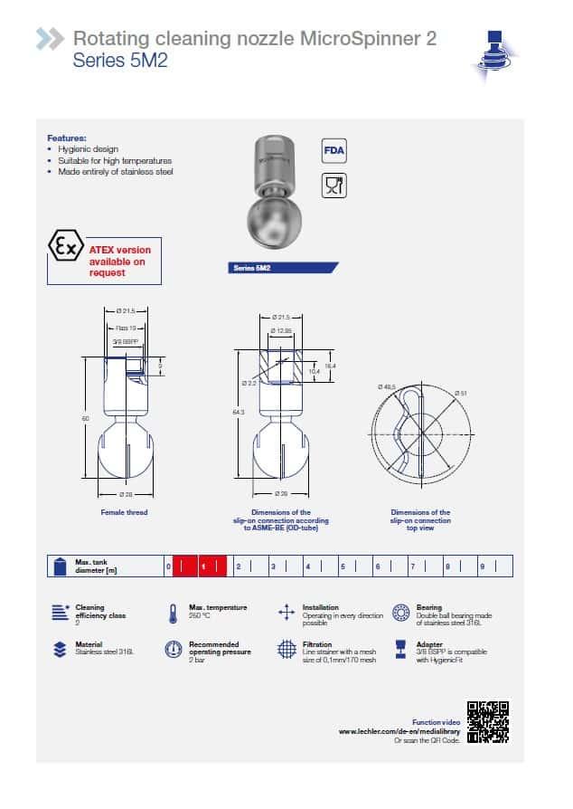 Раздел каталога, посвященный моющей головке 5M2 MicroSpinner2