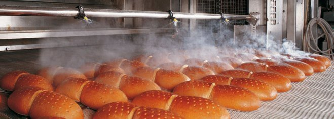 Форсунки для полива хлеба на выходе из печи