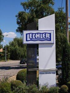 Указатель адреса на завод фирмы Lechler в г. Метцинген