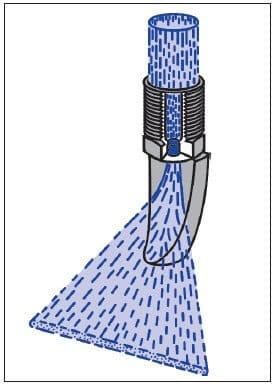 Дефлекторная (язычковая) форсунка