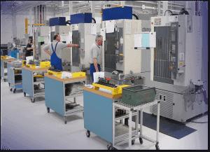Производственный цех завода в Метцингене