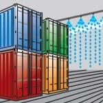 Противопожарная система для кораблей-контейнеровозов