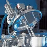 Емкость с моющей головкой на фармацевтическом производстве