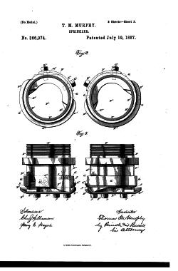Murphy nozzle patent US366974
