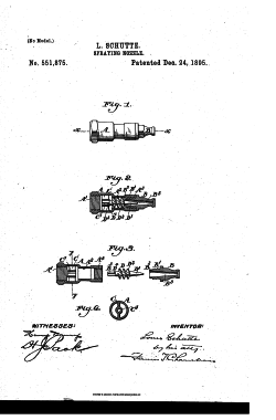 Патент 1895 года на форсунку