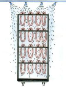 Процесс охлаждения колбас (колбасный душ)