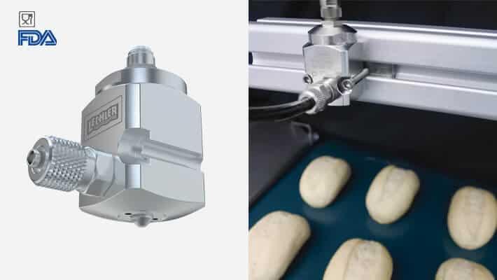 VarioSpray II применяется в пищевой промышленности и соответствует требованиям FDA