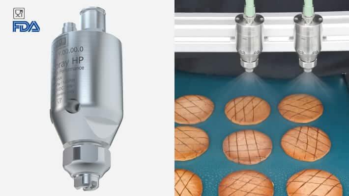 VarioSpray HP применяется в пищевой промышленности и соответствует требованиям FDA