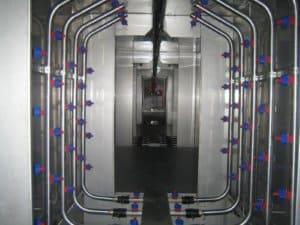 Агрегат химической подготовки поверхности с трубными контурами